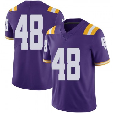 Men's Blake Ferguson LSU Tigers Nike Limited Purple Football College Jersey