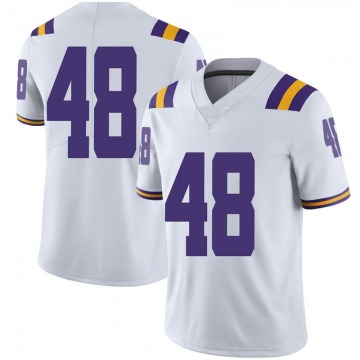 Men's Blake Ferguson LSU Tigers Nike Limited White Football College Jersey
