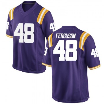 Men's Blake Ferguson LSU Tigers Nike Replica Purple Football College Jersey