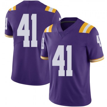 Men's Carlton Smith LSU Tigers Nike Limited Purple Football College Jersey