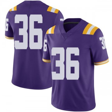 Men's Cole Tracy LSU Tigers Nike Limited Purple Football College Jersey