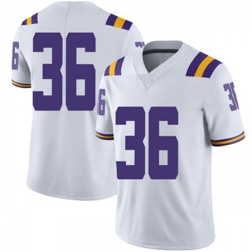 Men's Cole Tracy LSU Tigers Nike Limited White Football College Jersey