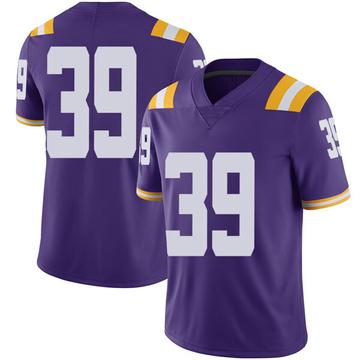 Men's Jack Gonsoulin LSU Tigers Nike Limited Purple Football College Jersey
