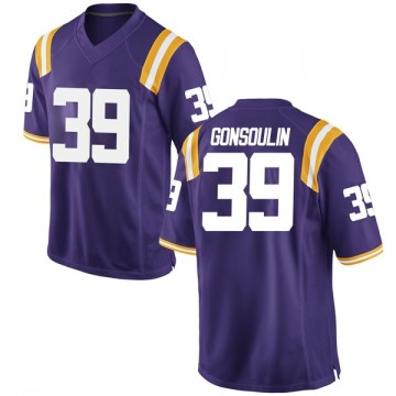 Men's Jack Gonsoulin LSU Tigers Nike Replica Purple Football College Jersey