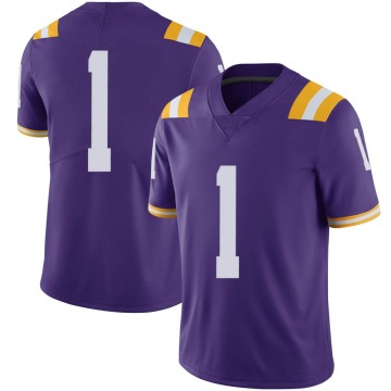 Men's Jamarr Chase LSU Tigers Limited Purple Football College Jersey