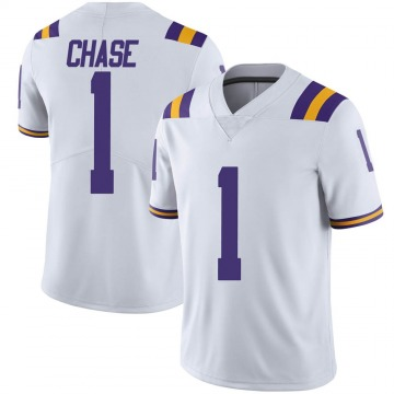 Men's Jamarr Chase LSU Tigers Limited White Football College Jersey