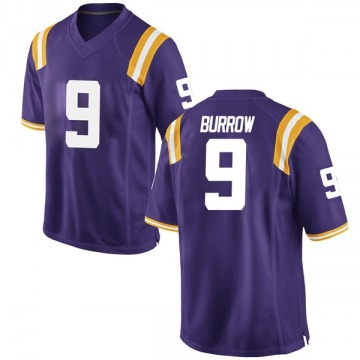 Men's Joe Burrow LSU Tigers Game Purple Football College Jersey
