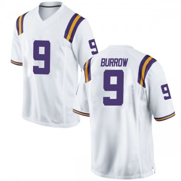 Men's Joe Burrow LSU Tigers Nike Game White Football College Jersey
