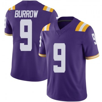 Men's Joe Burrow LSU Tigers Nike Limited Purple Vapor Untouchable Football College Jersey