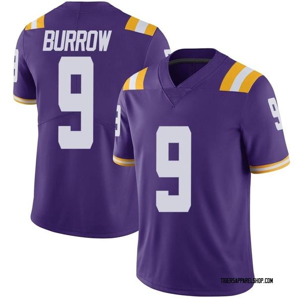 Men's Joe Burrow LSU Tigers Nike Limited Purple Vapor Untouchable Football College Jersey