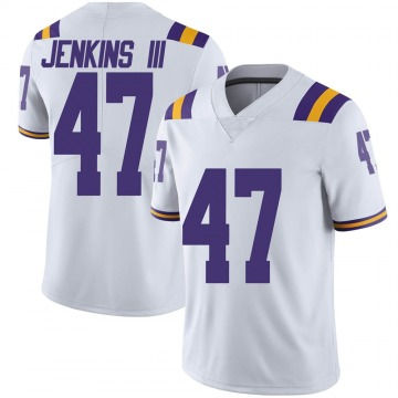 Men's Nelson Jenkins III LSU Tigers Nike Limited White Football College Jersey