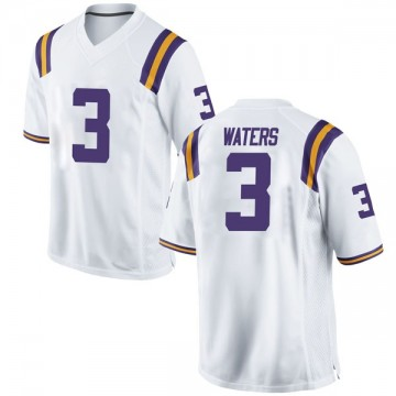 Men's Tremont Waters LSU Tigers Nike Game White Football College Jersey
