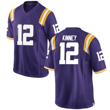 Men's Walker Kinney LSU Tigers Game Purple Football College Jersey