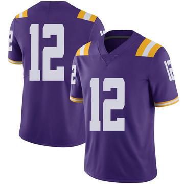 Men's Walker Kinney LSU Tigers Limited Purple Football College Jersey