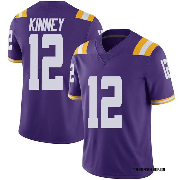 Men's Walker Kinney LSU Tigers Nike Limited Purple Vapor Untouchable Football College Jersey
