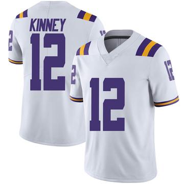 Men's Walker Kinney LSU Tigers Limited White Football College Jersey