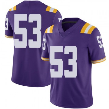 Men's Will Cox LSU Tigers Nike Limited Purple Football College Jersey