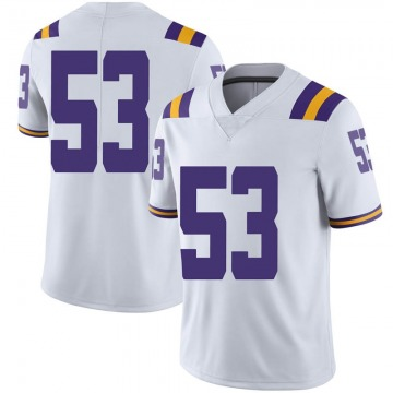 Men's Will Cox LSU Tigers Nike Limited White Football College Jersey