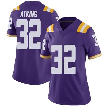 Women's Avery Atkins LSU Tigers Nike Limited Purple Vapor Untouchable Football College Jersey