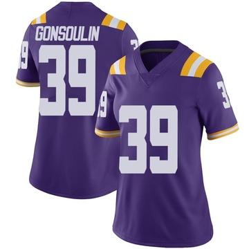 Women's Jack Gonsoulin LSU Tigers Nike Limited Purple Vapor Untouchable Football College Jersey