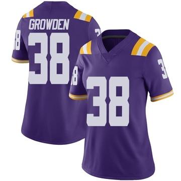 Women's Josh Growden LSU Tigers Nike Limited Purple Vapor Untouchable Football College Jersey