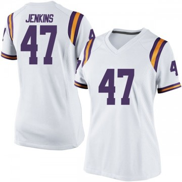 Women's Nelson Jenkins III LSU Tigers Nike Game White Football College Jersey