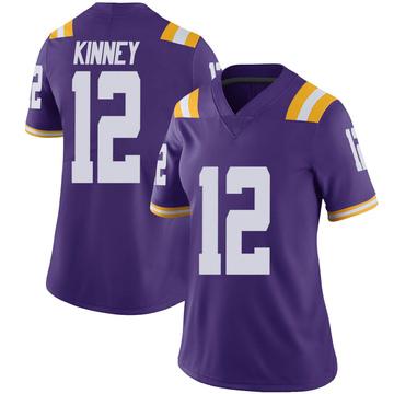 Women's Walker Kinney LSU Tigers Nike Limited Purple Vapor Untouchable Football College Jersey