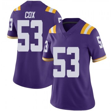 Women's Will Cox LSU Tigers Nike Limited Purple Vapor Untouchable Football College Jersey