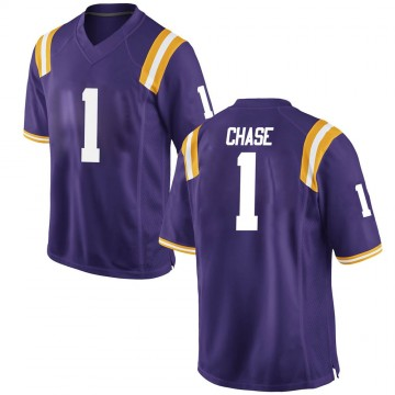Youth Jamarr Chase LSU Tigers Game Purple Football College Jersey