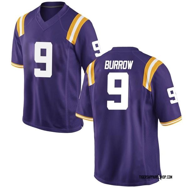 Youth Joe Burrow LSU Tigers Nike Game Purple Football College Jersey