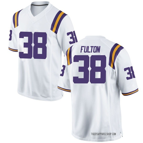 Youth Keith Fulton LSU Tigers Nike Game White Football College Jersey