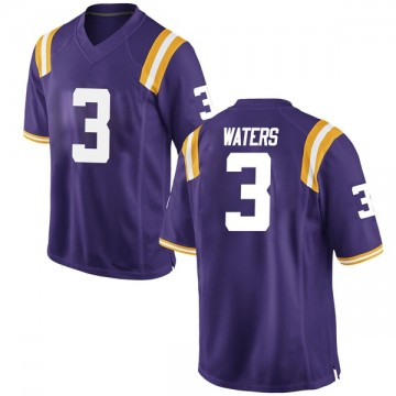 Youth Tremont Waters LSU Tigers Nike Game Purple Football College Jersey